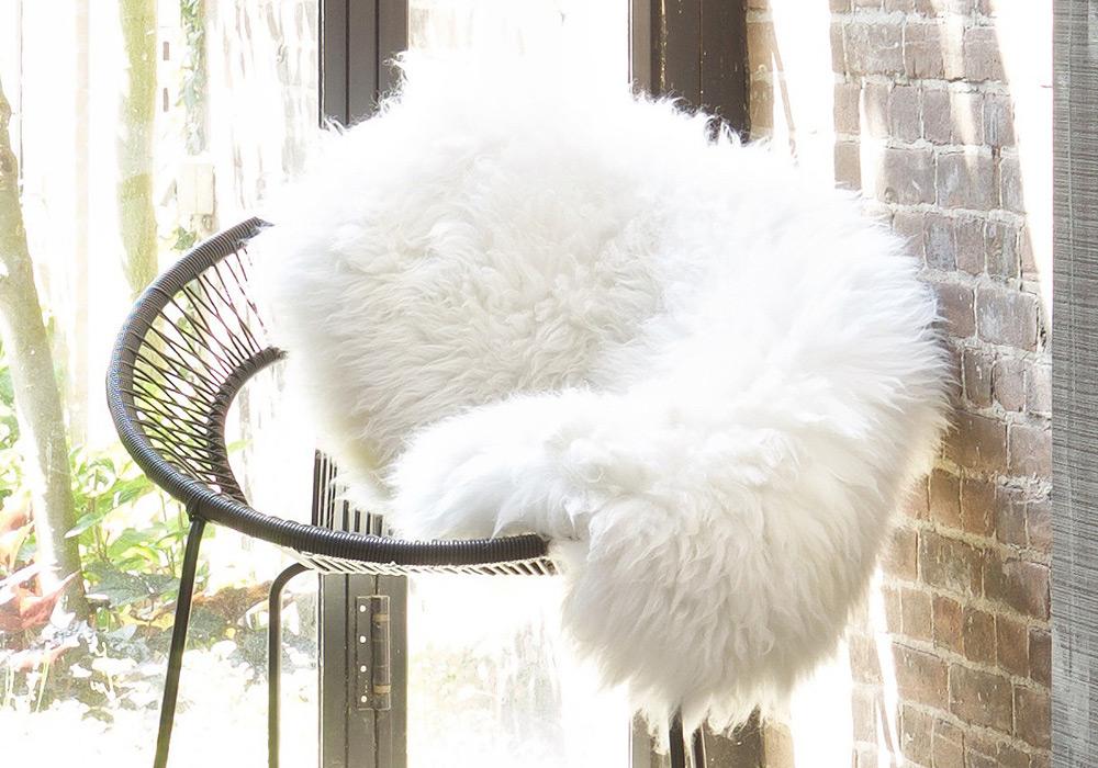 woool schapenvacht wit